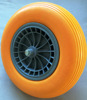 flat free tire 4.00-8 wheel barrow wheel semi pneumatic rubber wheels