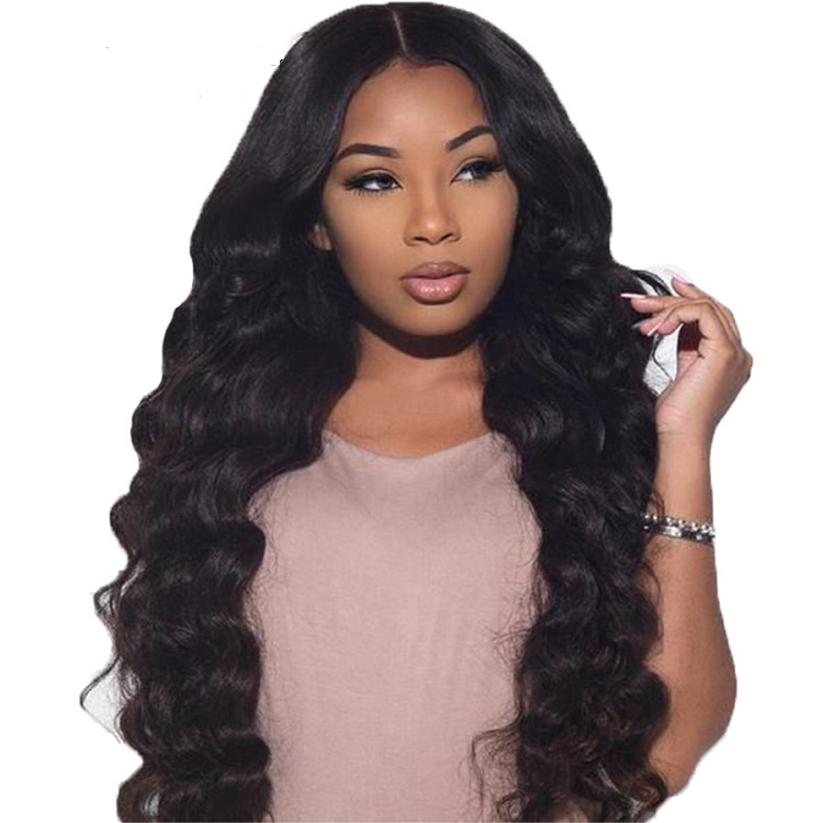 Pre Plucked Body Wave Brazilian Human Hair Full Lace Wigs With Baby Hair Density 130% фото