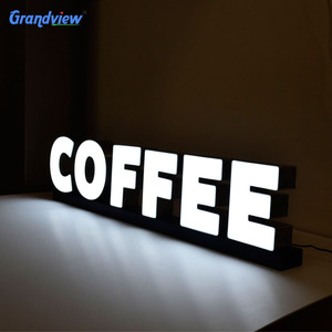 Led lighted alphabet acrylic letter sign shop name board