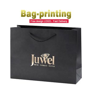 Custom wholesale paper bag logo shopping gift bag/kraft paper bag printing for jewelry packing