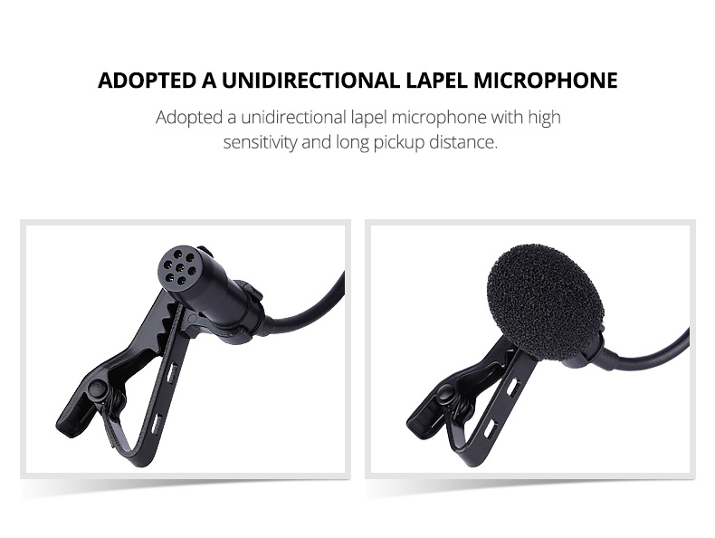 Mini Lavalier Interview  Microphone Wireless For Mobile Smart Phone Dslr camera