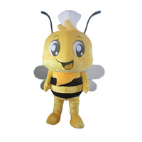 High Quality Bee Mascot Cartoon plush cartoon movie custom mascot costume for party