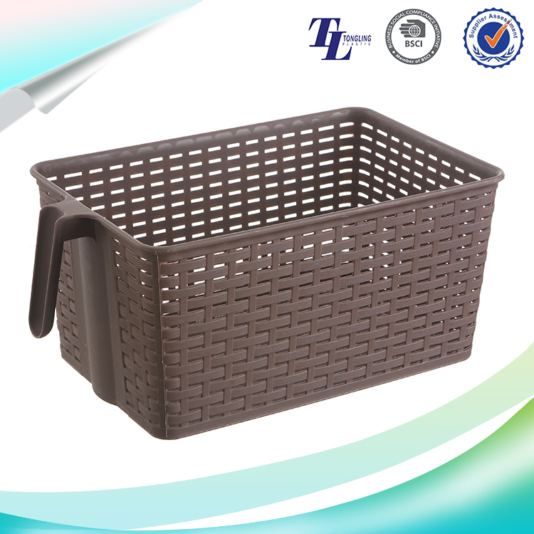 Cute design customized top quality hot plastic bathroom basket