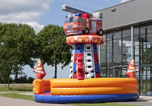 inflatable climbing tower fire truck for child