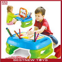 2 in 1 Creativity Desk&Easel Children's writing board magnetic drawing board for kids
