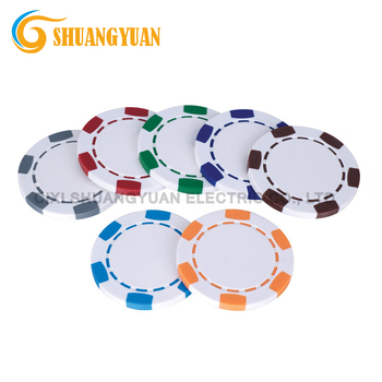 11.5g ABS 6-Spot Blank Poker Chip For Custom Printing