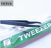 Vetus Straight Pointed OR Curve Tweezers Eyelash Extensions Stainless Steel Esd-15