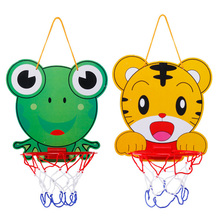 Indoor Portable animal kids mini plastic basketball hoop