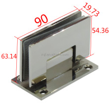 90 Degree Wall To Glass Clamp Shower Door Hinge