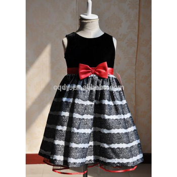 Wholesale Oem Baby Dress Designsblack And White Stripe Kid Ball