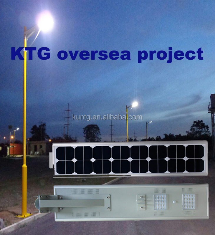 KTG all in one integrated Solar-Lighting LED Street Light with 5 years warranty