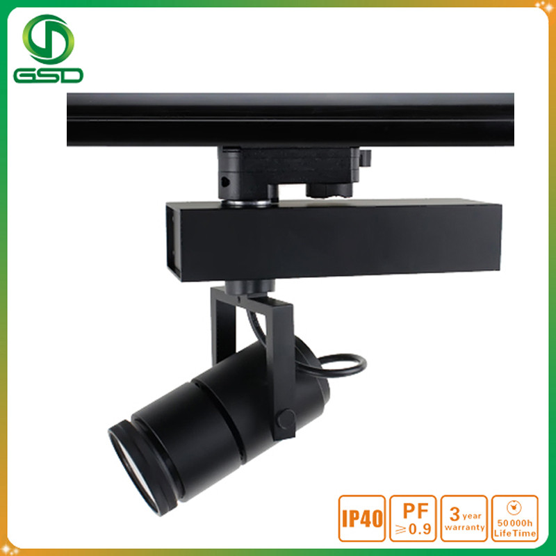 Golden quality black housing led jewellery track light