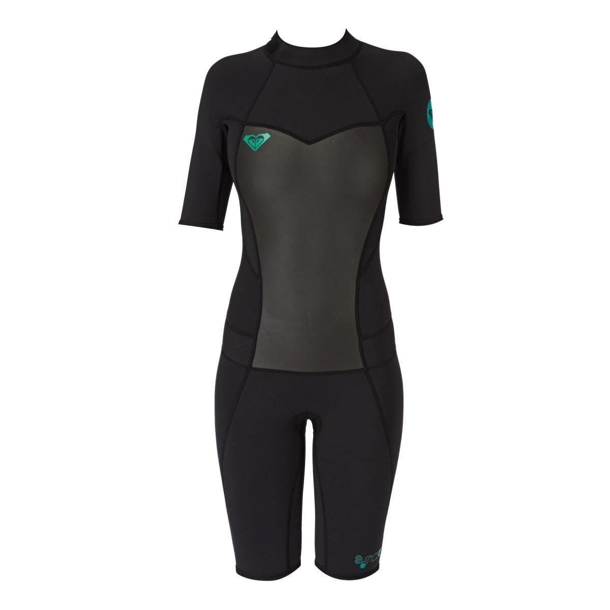 f02728d946 Roxy Syncro 2mm Springsuit Shorty Wetsuit - Girls - Graphite gray purple