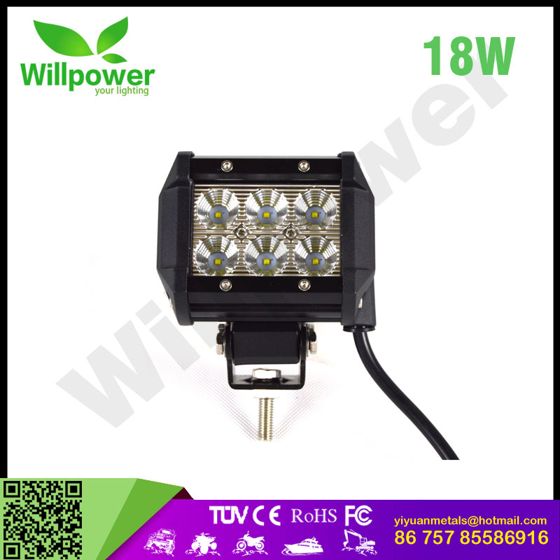 mini lightbar 18w 4inch lightbar auto lighting system
