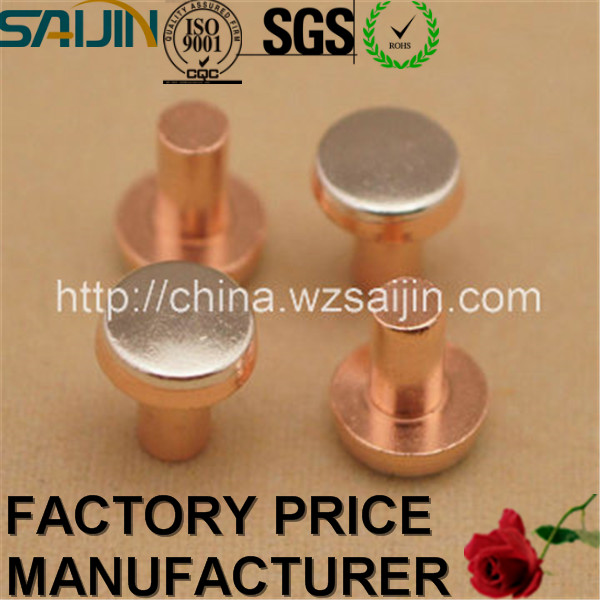 Within 7 days Refund or Return Policy Nickel Copper Rivet