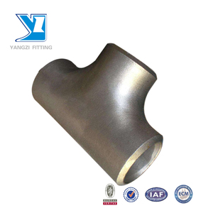WP304 stainless steel pipe fitting BW seamless equal tee
