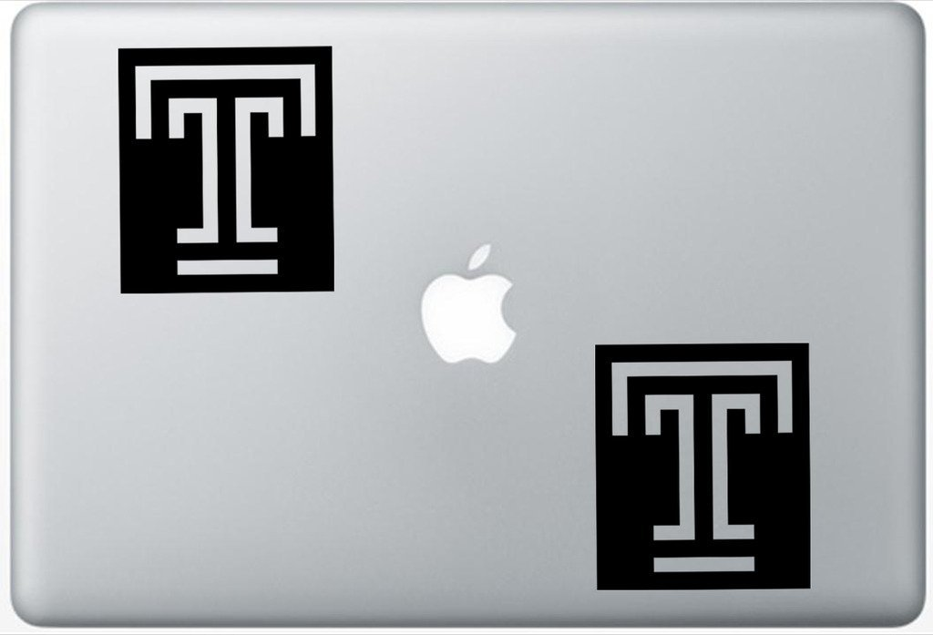 Temple Owls University LeporeDecals0480 Set Of Two (2x) , Decal , Sticker , Laptop , Ipad , Car , Truck