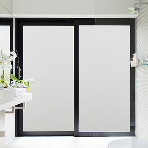 Vinyl 3D embossed static cling window glass film transparent glass sticker for office use