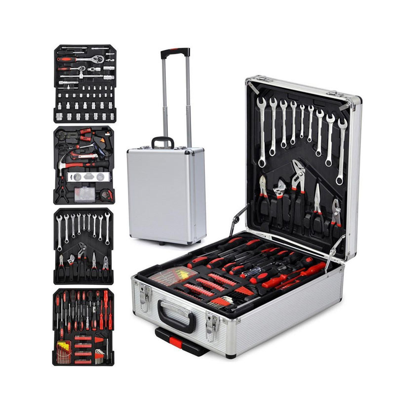 599pcs aluminum case tool cabinet automotiive tool trolley sets numerous in variety hardware tool sets