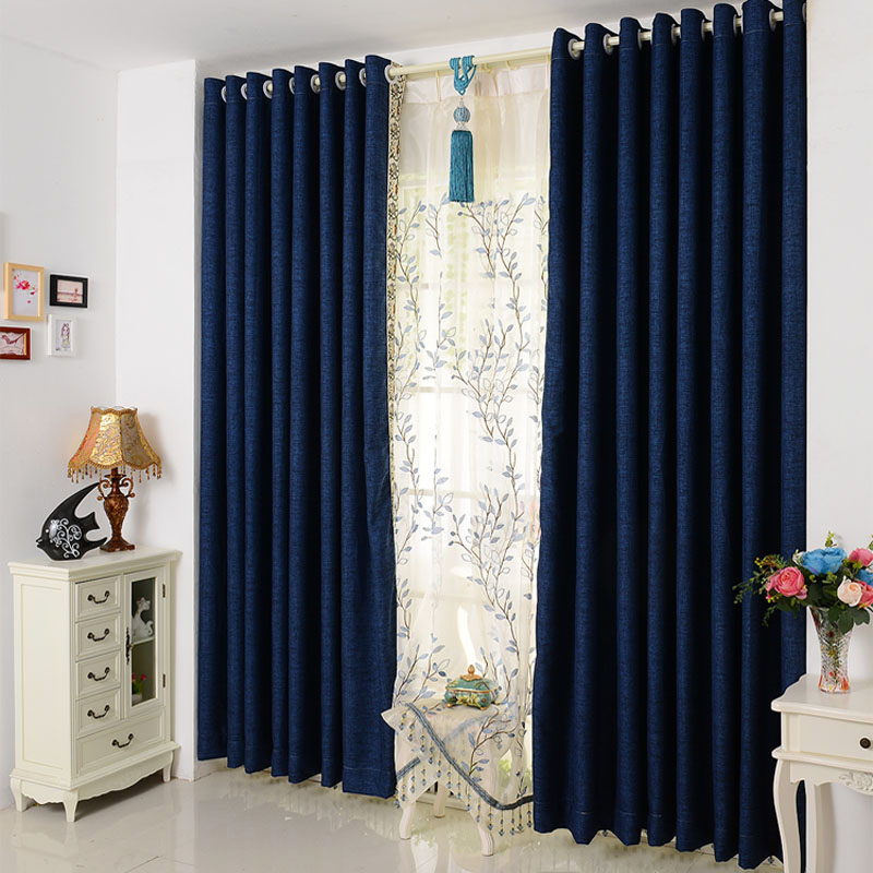 Modern And Simple Solid Color Cotton Curtain Fabric