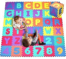 Alphabet and number play mats kids puzzle mat
