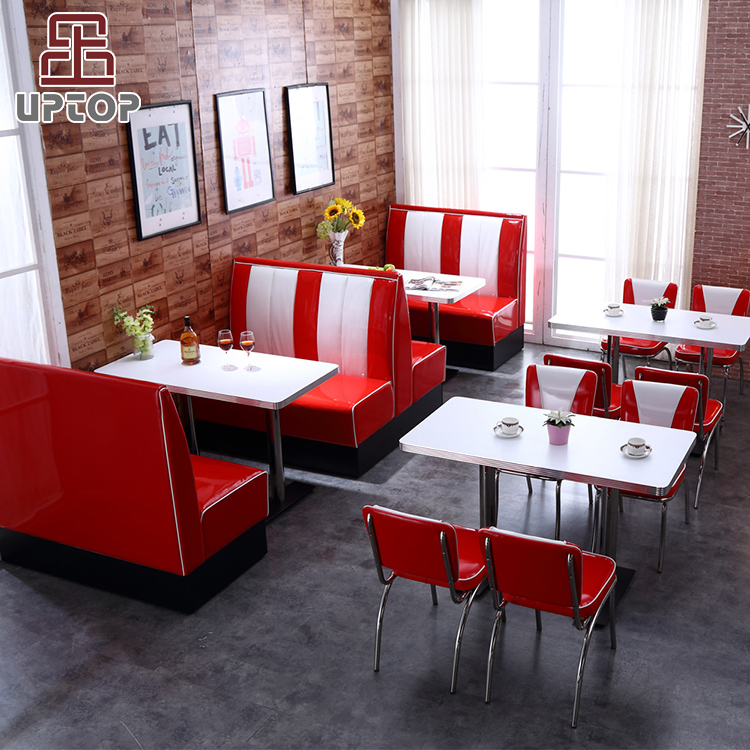 (SP-CT833) 2019 Hot sale uptop commercial red leather booth restaurant sofa