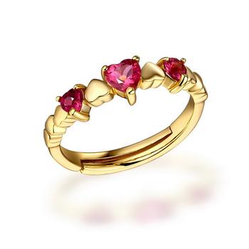 Designer 18k Gold Rings Design For Women Heart Shaped Ring Designs
