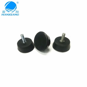 chinese manufacturer custom rubber feet with M8 screw for furniture