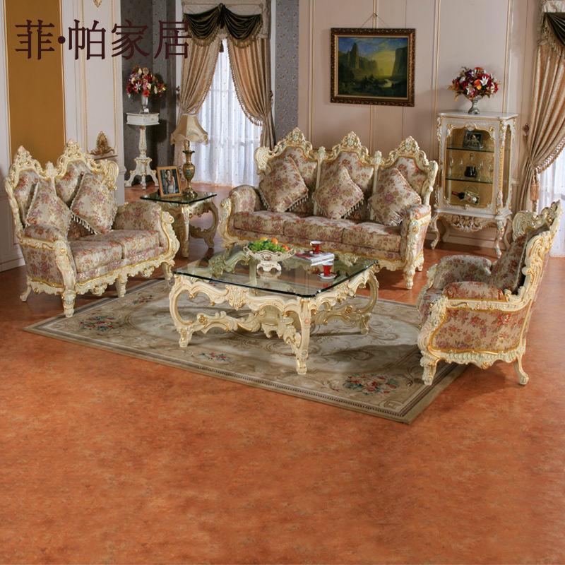 Francés lounge / ocio sofá de la tela, antiguo salón de estilo ...