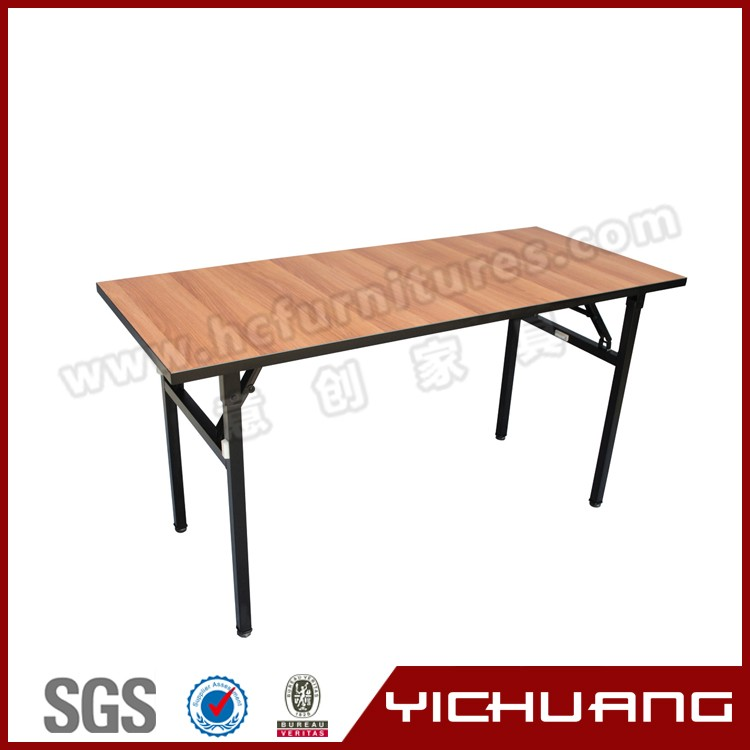 New design restaurant tabel, 10 person seating, various color and size square foldable table YCX-T10