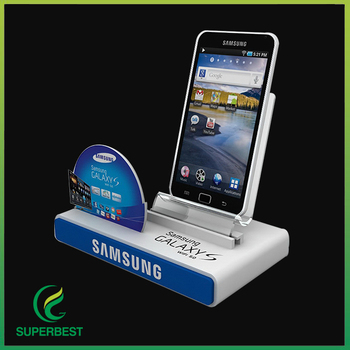 Acrylic Mobile Cell Phone Display Stand Holder With Advertisement Amazing Cell Phone Display Stands