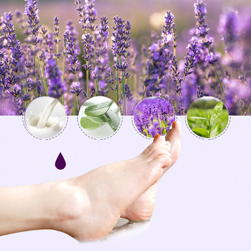 OEM 6pc=3pair Exfoliating Foot Mask Pedicure Socks Exfoliation for Feet Mask Remove Dead Skin Heels Foot Peeling Feet Peel Mask