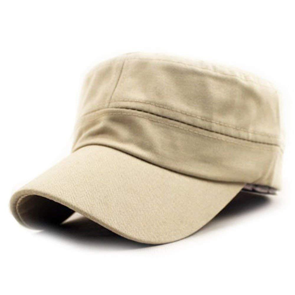 cd1e165d0a7 Ratoop Women Men Unisex Classic Plain Vintage Army Hat Military Cadet Style Cotton  Cap Adjustable