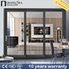 Western design 8mm bullet proof tempered glass aluminium external doors with IS9001 certification