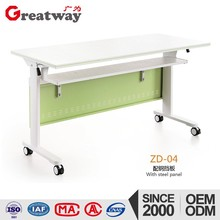 alibaba china market Meeting training room colour style steel folding i writing low height study table