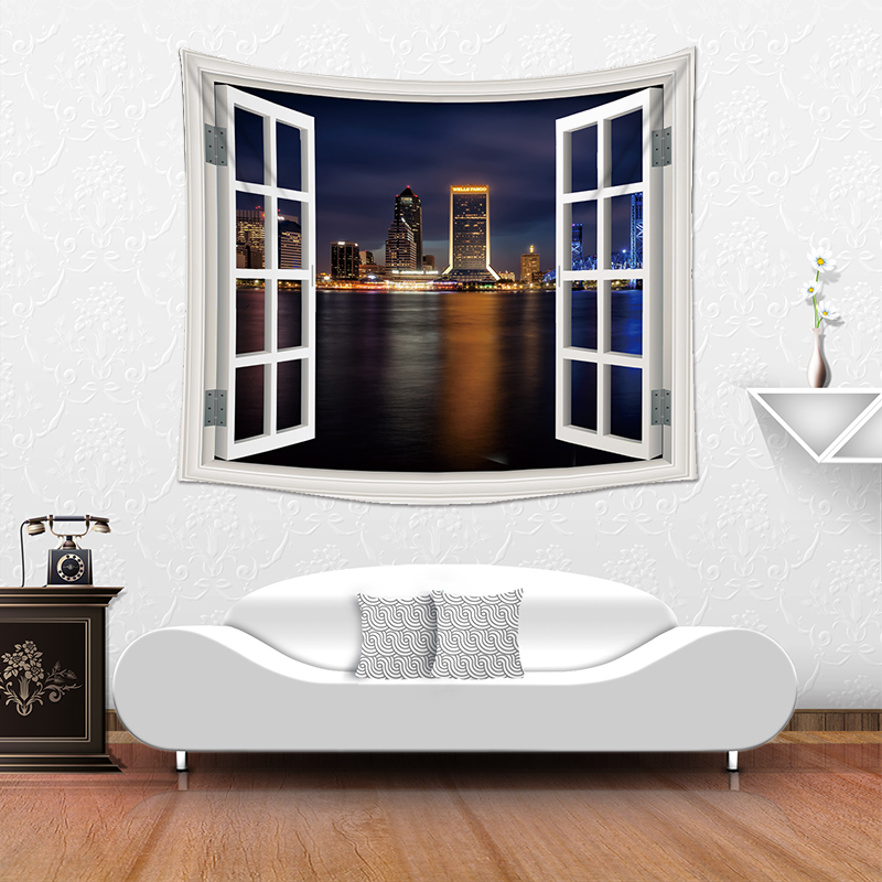 Custom Polyester Material Wall Tapestry For Home Decor
