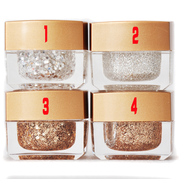 Free Shipping Champagne Gold Bright Silver Nail Art Phototherapy Gradient Gel Glue Glitter Paillette Glue