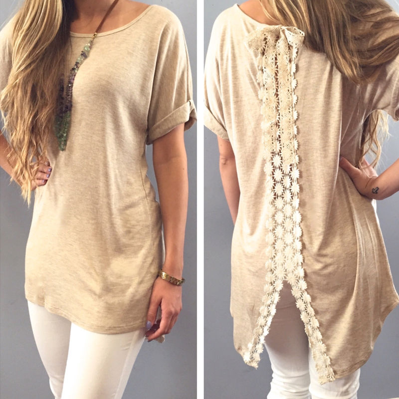 72ab3157451 Hot Sale Summer Ladies Womens Casual Shirt Plain Simple Design Short ...