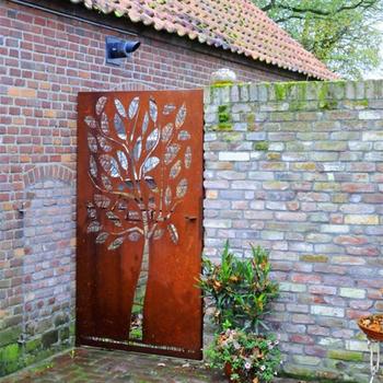 Carved Weathering Steel Metal Gates / Garden Trellis Design