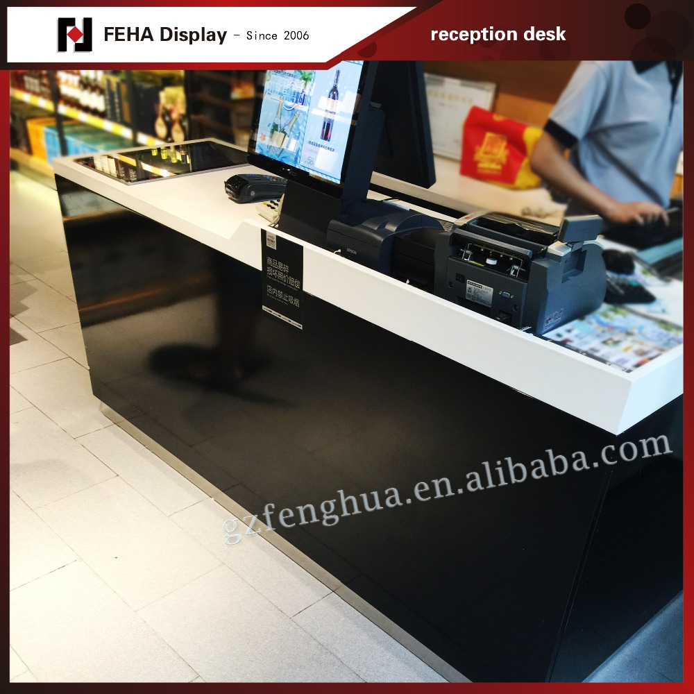 Supermarket wooden cash counter design view cash counter ked product - Wood Cash Counter Wood Cash Counter Suppliers And Manufacturers At Alibaba Com