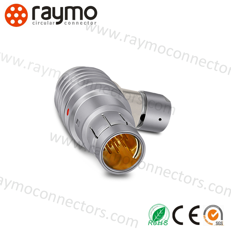 WSO 104 A086 16 pin compatible fischers connector outdoor waterproof IP68 connector Push pull right-angle plug