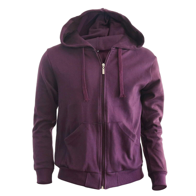 823178ddce32b Get Quotations · Bcpolo Men s Zip Hoodie Fleece Full Zip Cotton Plain Hoodie  Jackets