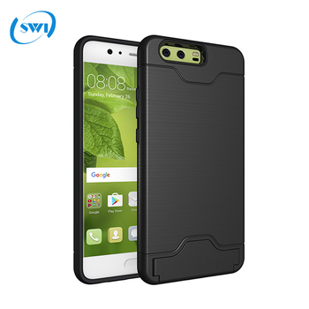 new arrival 062b0 4add5 2 In 1 Hybrid Rugged Impact Hard Case Hide Credit Card Slot For Huawei P10  Plus Case - Buy Case For Huawei P10 Plus,Hard Case For Huawei P10 ...