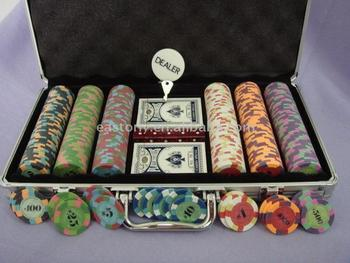 Paulson Brand Compression Mold 300pcs 10g Clay Poker Chip Set,Clay ...