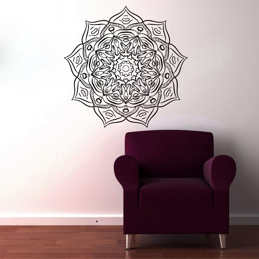Most Popular Vinyl Art Wall Decals Mandala Flower Home Decor Indian Religious Pattern Wall Sticker