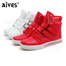 2015 New Arrival Patent Pu Leather Men Fashion Sneakers Spring Autumn Summer Ankle Boots Shoes Men High Top Sneakers Flats Shoes