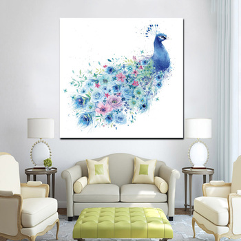 Wholesale Beautiful Peacock Canvas Painting Bird Wall Art Picture For Home Decoration Buy Canvas Painting Peacock Canvas Painting Canvas Painting