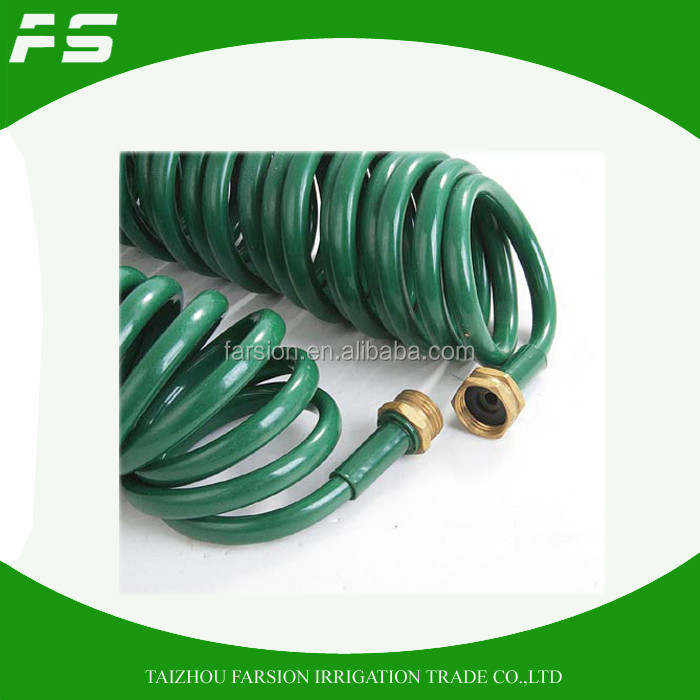 100Ft Flexible Plastic Spring Hose Flexible Garden Hose Pipe Supplier From China