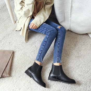 Low Moq Stock Zipper Boots Women Ladies