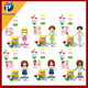 Girl's Style Princess Model Small Blocks